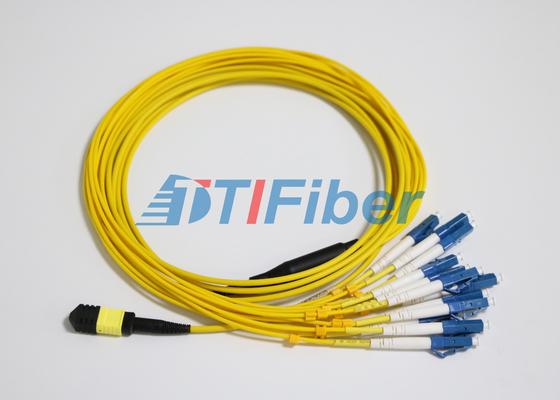 LC SM MTP/MPO繊維パッチはUPCの光ファイバーのコネクターによって導きます